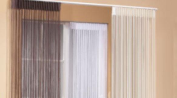 fadengardinen die locker leichte fensterdeko. Black Bedroom Furniture Sets. Home Design Ideas
